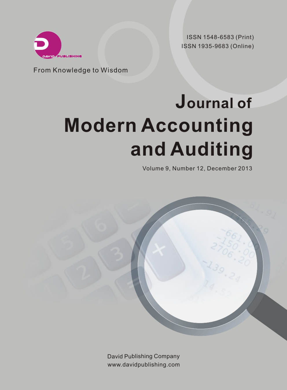 Journal of Modern Accounting and Auditing