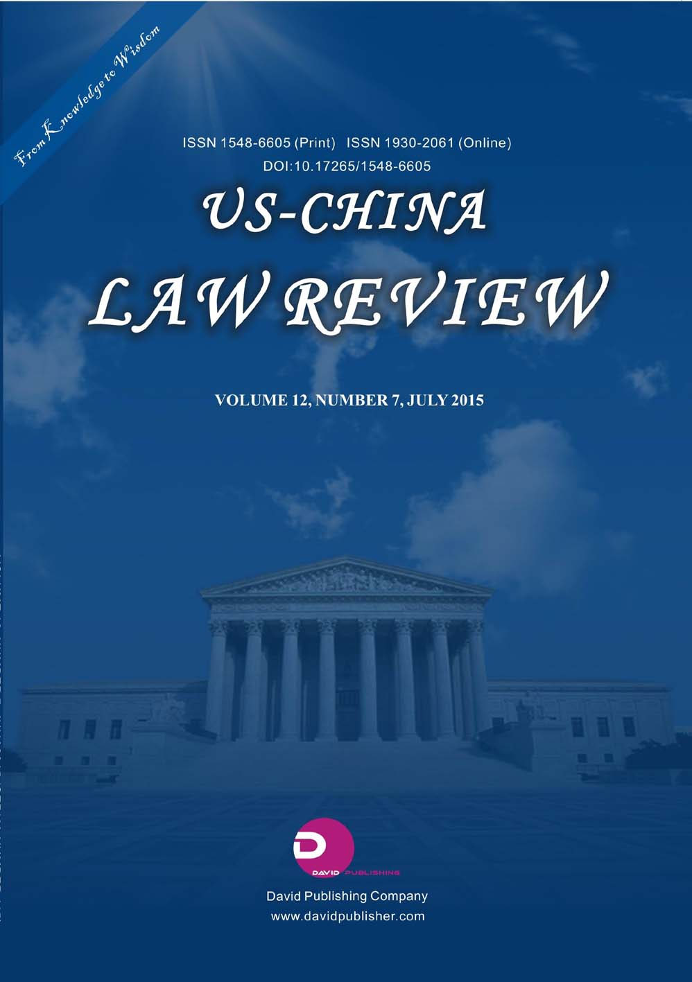 US-China Law Review