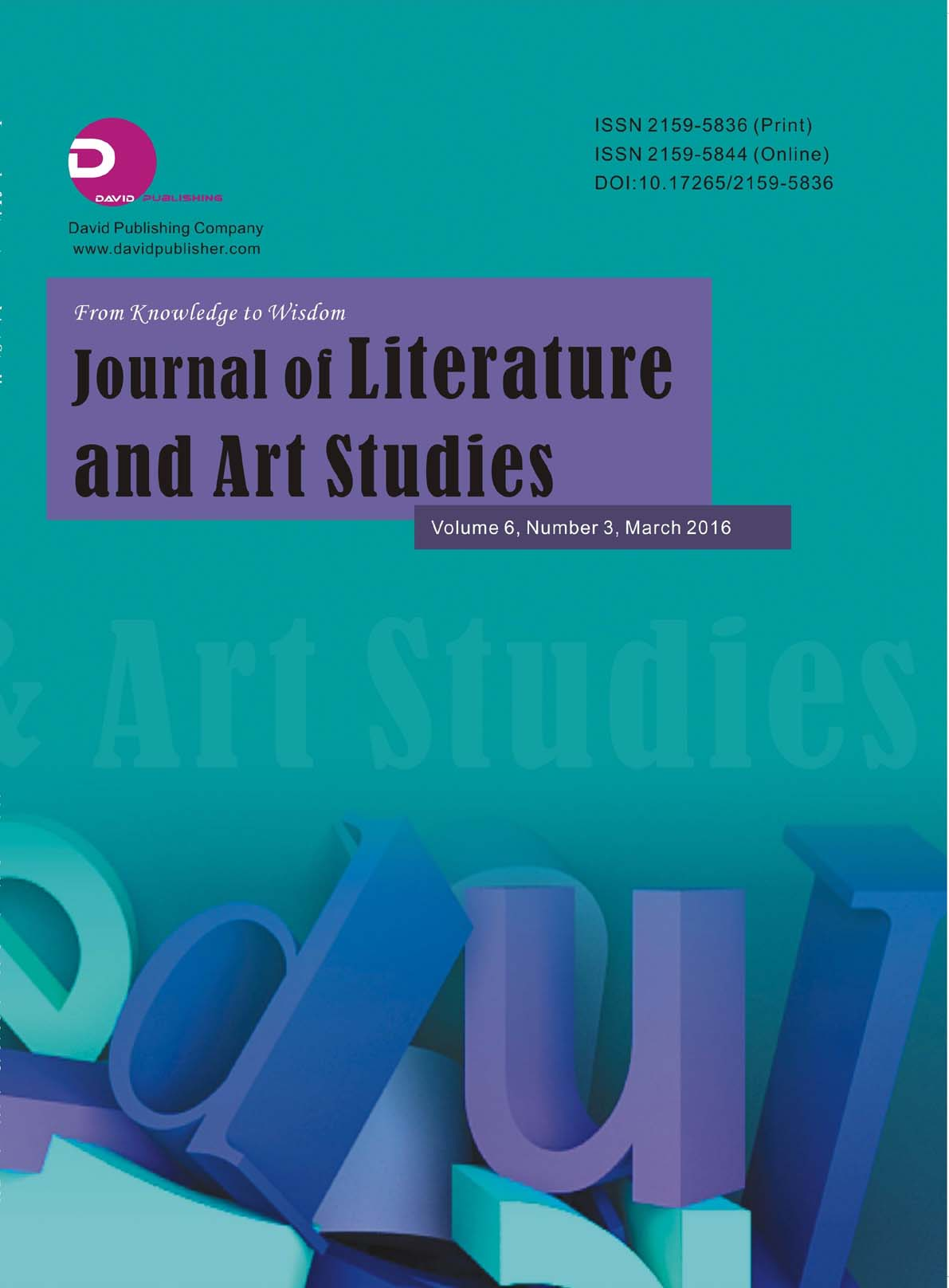 Journal of Literature and Art Studies